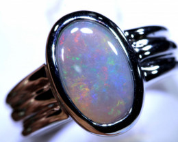 30.80CTS- DARK OPAL SILVER RING  OF-T2    LAZ