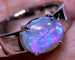 30.60CTS- CRYSTAL  OPAL SILVER RING  OF-V82    LAZ