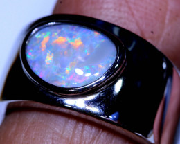 29CTS- DARK OPAL SILVER RING  OF-H169    LAZ