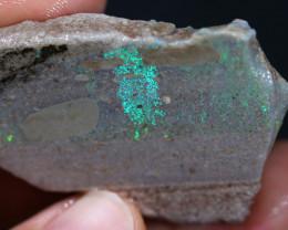 18.5 grams Andamooka rainbow matrix untreated. [BZ496]