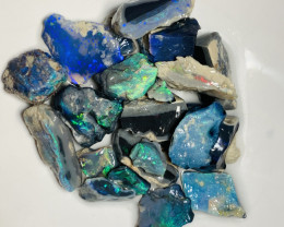 Bright Black Rough Opals to Cut— See the video plz & happy bidding#850