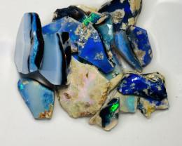 (video) Bright Grawin Rough Seam Opals to Cut #865