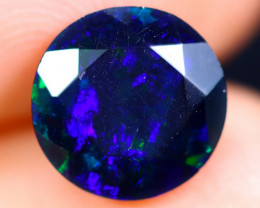 1.86cts Natural Ethiopian Faceted Smoked Welo Opal / ABF442
