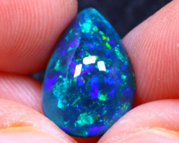 Welo Opal 2.30Ct Natural Smoked Ethiopian Play of Color Opal G1010/A3