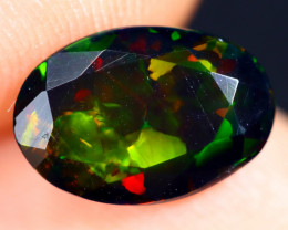 1.04cts Natural Ethiopian Welo Faceted Smoked Opal / ABF550