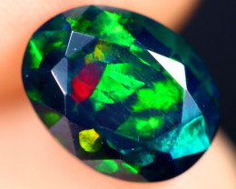 1.79cts Natural Ethiopian Welo Faceted Smoked Opal / ABF591