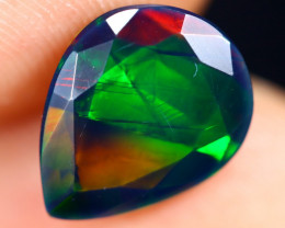 1.72cts Natural Ethiopian Welo Faceted Smoked Opal / ABF592