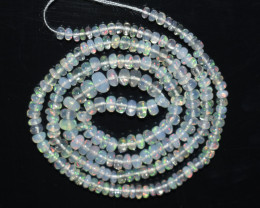 30.15Ct Natural Ethiopian Welo Opal Beads Play Of Color OB113