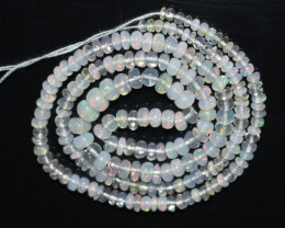 28.45Ct Natural Ethiopian Welo Opal Beads Play Of Color OB117