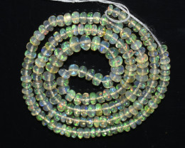 38.00Ct Natural Ethiopian Welo Opal Beads Play Of Color OB118