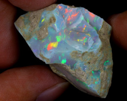 62cts Natural Ethiopian Welo Rough Opal / WR9697