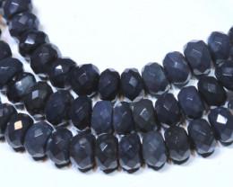 66.30 CTS BLACK OPAL BEADS STRAND TBO-4985 TRUEBLUEOPALS