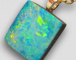 Genuine Australian Opal Pendant 14k Gold Gift 4.75ct RRP: $250
