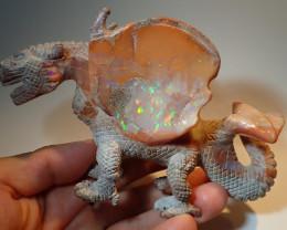 1000ct Dragon Figurine Mexican Cantera Fire Opal