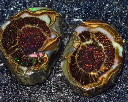 6.400 CRT RARE UNIQUE STUNING SLICE OF FRUITS SPECIMENT INDONESIAN OPAL WOO