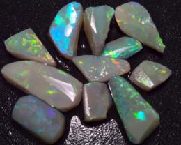 16.90cts colourful lightning ridge opal rub parcel, 11 Rubs