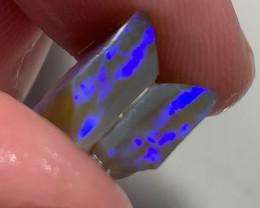 Dark Crystal Seam Opal Split with Bright Blue Bar