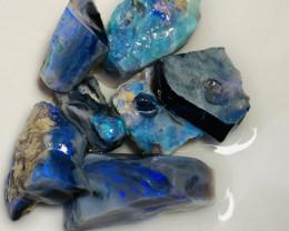 Blacks*** 83 CTs of Bright Rough Black Opals to Cut#959