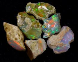 54cts Natural Ethiopian Welo Rough Opal LOTS / PA1222