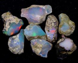 53cts Natural Ethiopian Welo Rough Opal LOTS / PA1226