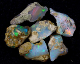 54cts Natural Ethiopian Welo Rough Opal LOTS / PA1228