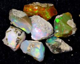 54cts Natural Ethiopian Welo Rough Opal LOTS / PA1239