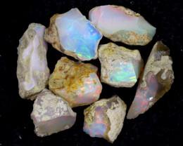 57cts Natural Ethiopian Welo Rough Opal LOTS / PA1241