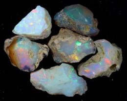 52cts Natural Ethiopian Welo Rough Opal LOTS / PA1245
