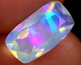 2.63cts Natural Ethiopian Faceted Welo Opal / ABF637