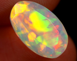 2.96cts Natural Ethiopian Faceted Welo Opal / ABF639