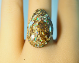 17.05CT WOOD REPLACEMENT BOULDER OPAL MK712