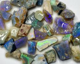 152.20 ct Opal Rough Lot Black Opals Lightning Ridge BORA140921