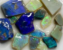 63.20 ct Opal Rough Lot Black Opals Lightning Ridge BORB140921