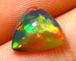 Welo Opal 2.03Ct Natural Ethiopian Smoked Play of Color Opal G1708/A3