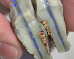 Huge Thick Seam Rough Opal Split With Consistent Bar #977