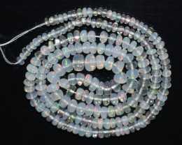 26.05Ct Natural Ethiopian Welo Opal Beads Play Of Color OB122