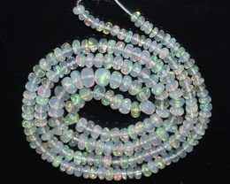 31.40Ct Natural Ethiopian Welo Opal Beads Play Of Color OB124