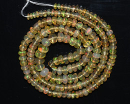 31.90Ct Natural Ethiopian Welo Opal Beads Play Of Color OB125