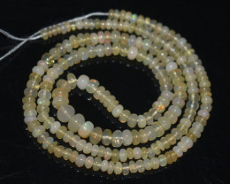 35.00Ct Natural Ethiopian Welo Opal Beads Play Of Color OB126