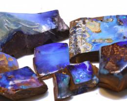 1235 cts Boulder Opal ELECTRIC BLUE Rough Parcel DT-A5950 Dreamtimeopals