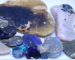 151.0 cts  Black opal L.Ridge Rough  Parcel    ADO-A645 adopals
