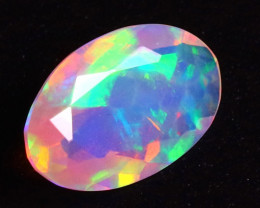 Welo 1.20Opal Ct Natural Faceted Ethiopian Play of Color Opal  G1906/A44