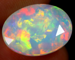 2.56cts Natural Ethiopian Faceted Welo Opal / ABF728
