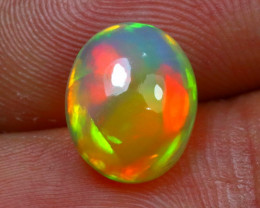 Welo Opal 2.36Ct Natural Ethiopian Cabochon Play of Color Opal  G2205/A3