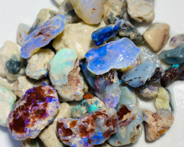 300 Cts Bright Rough Nobby Opals with Potential Carvers & Cutters