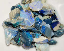 185 CTs of Bright Rough Seam Opals With Cutters #27