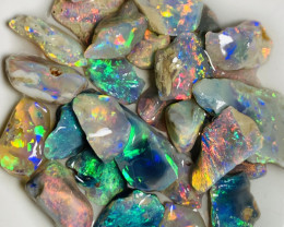 Tray of Bright Colours - 35 CTs Gorgeous Rough Opals# 35