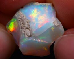 9.94Ct Multi Color Play Ethiopian Welo Opal Rough G2302/R2