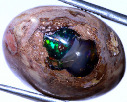17 CTS OPAL MEXICAN CAB FOB-251  fireopalbeads