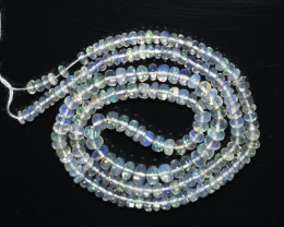 32.75Ct Natural Ethiopian Welo Opal Beads Play Of Color OB133